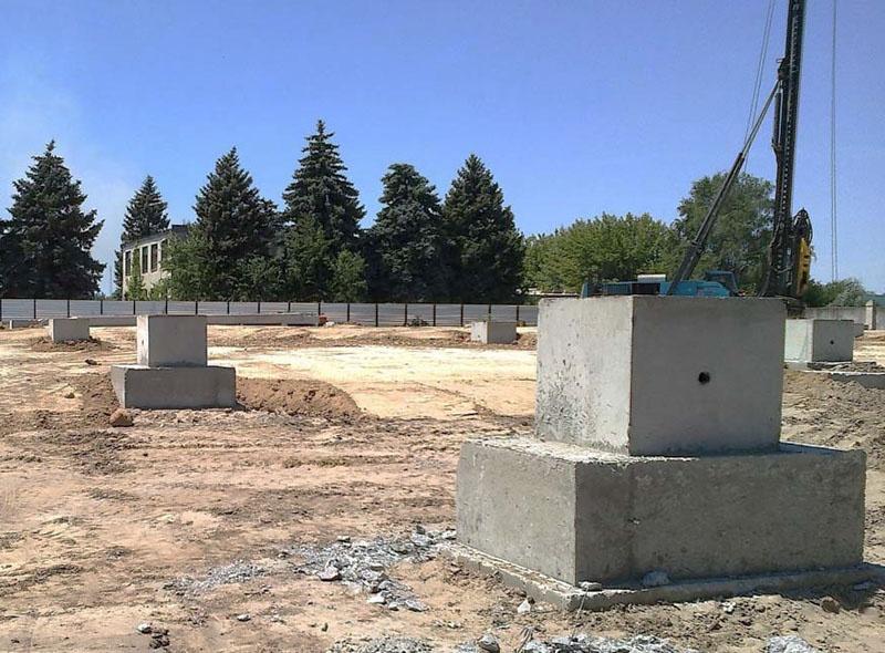 Fundatie prefabricata pahar