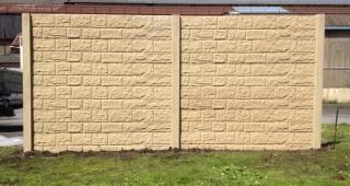 Sectiune gard din beton